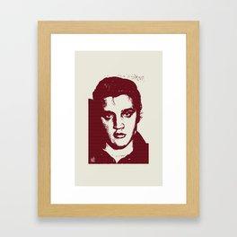 Elvis in Dogtooth Framed Art Print