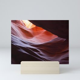 Abstract from Antelope Canyon in yellow, red and purple Mini Art Print