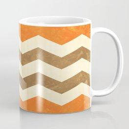 Orange, Brown and Cream Chevron Coffee Mug
