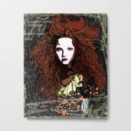 Redhead Girl Metal Print