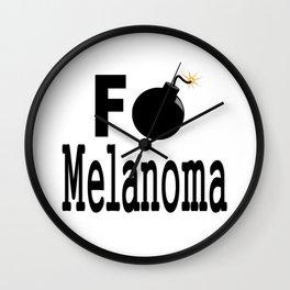 F Bomb Melanoma Wall Clock