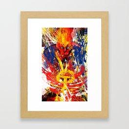 Red T Framed Art Print