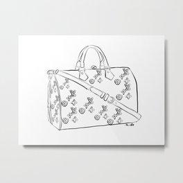 LV Handbag Metal Print