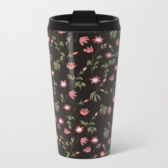 Dark Botanical Garden Metal Travel Mug