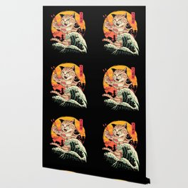 Neko Sushi Wave Wallpaper
