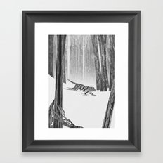 Martwood Tiger Framed Art Print