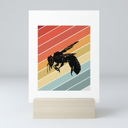 Retro Bee Wasp Insect Gift Idea Mini Art Print