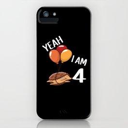 Fourth Birthday Gift Idea iPhone Case