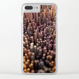 Abstract Topography - Monaco Clear iPhone Case