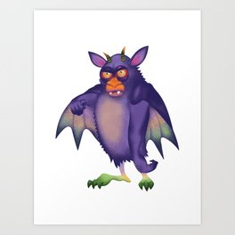 Batsquatch Art Print