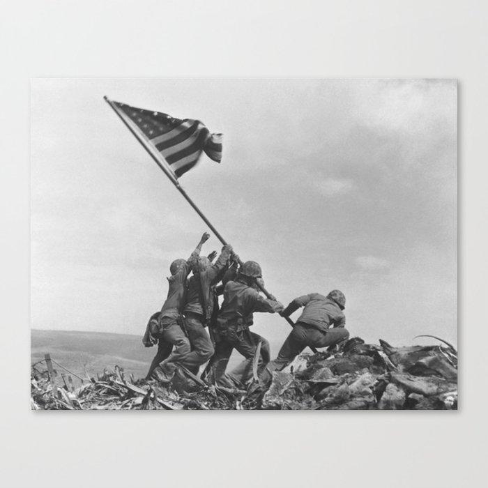 Iwo Jima Flag World War 2 Vintage Canvas Print