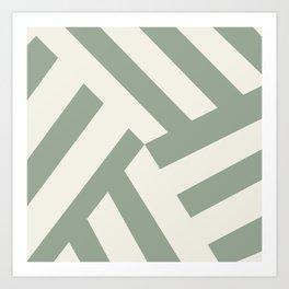 Sage Stripe Art Print