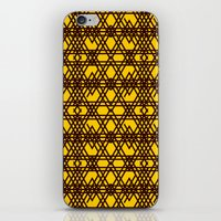 yellow pattern iPhone & iPod Skins featuring yellow pattern by dedoma