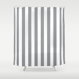 Vertical Grey Stripes Shower Curtain