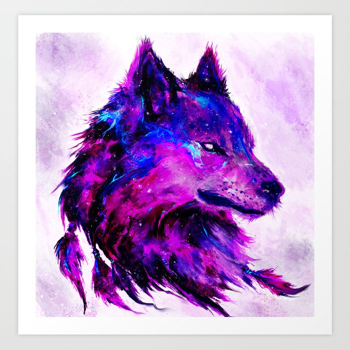 Cosmic Wolf Art Print By Shimhaq98 Society6