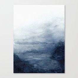 Indigo Abstract Painting | No.2 Canvas Print