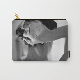 Woman Showering, 35mm Film, B&W Carry-All Pouch
