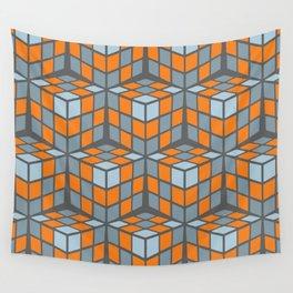 cascade - orange Wall Tapestry