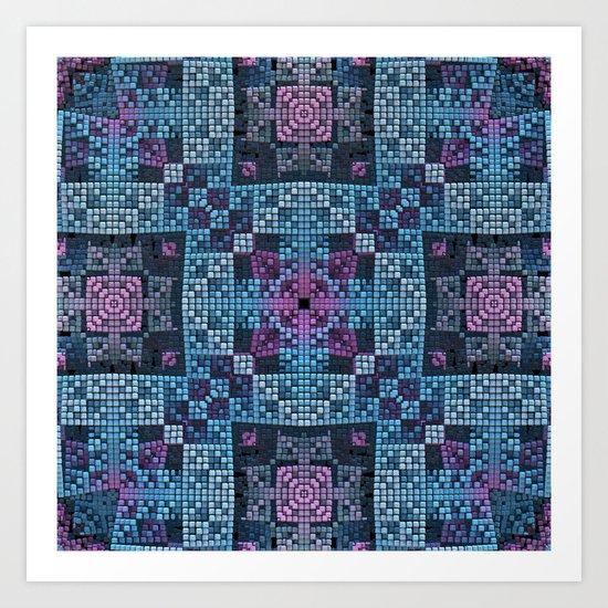 Tiled One Art Print