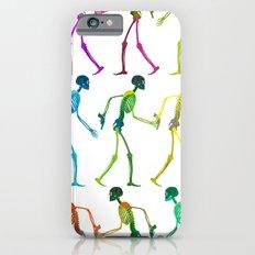 walking sketeton with gun iPhone 6s Slim Case
