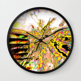 Face your demons Wall Clock