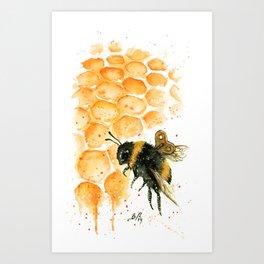 Clockwork Bee II Art Print