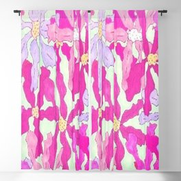 Bright and Hazy Floral Blackout Curtain