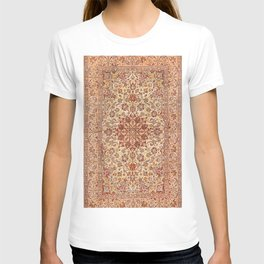 Persia Isfahan 19th Century Authentic Colorful Muted Cream Blush Tan Vintage Patterns T-shirt