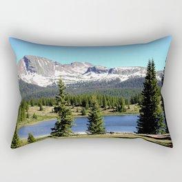 Little Molas Lake with Snowdon Peak Rectangular Pillow