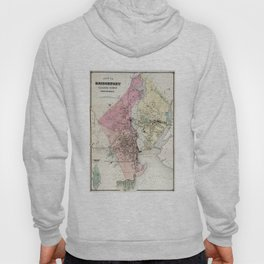 Vintage Map of Bridgeport CT (1867) Hoody