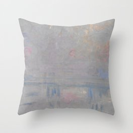 Charing Cross Bridge Throw Pillow