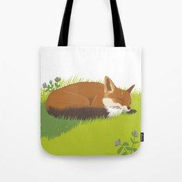 Snoozy Red Fox Tote Bag