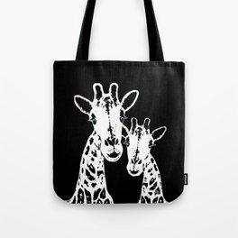 Giraffes Imprint Stamp Tote Bag
