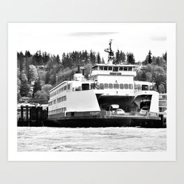 Puget Sound Ferry Art Print