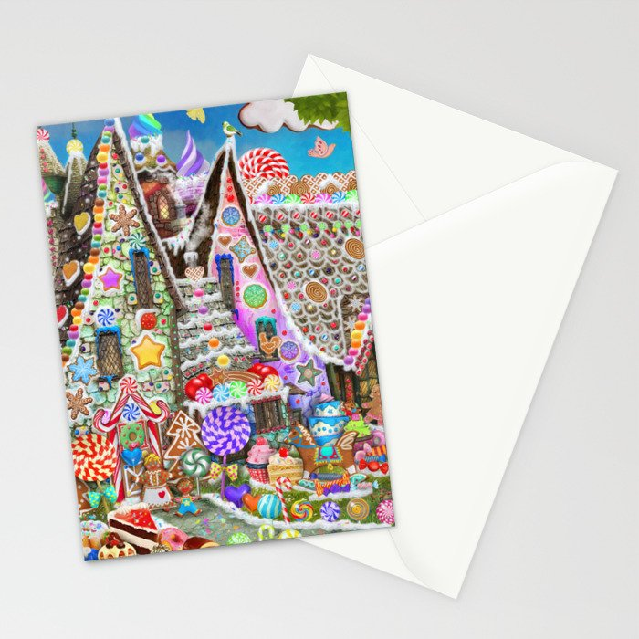 The Gingerbread Mansion Stationery Cards