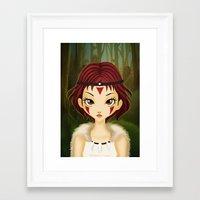 mononoke Framed Art Prints featuring Mononoke by Paz Huichaman