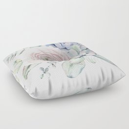 Succulent Blooms Floor Pillow