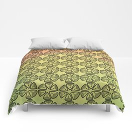 Doodle flowers on pastel background Comforters
