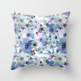 FLOWERS WATERCOLOR 20 Throw Pillow