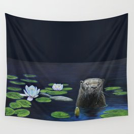 The River Otter by Teresa Thompson Wall Tapestry