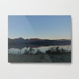Derwentwater at peace in winter Metal Print