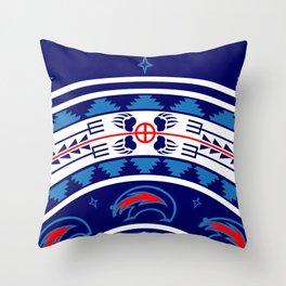 Bear Spirit (Blue) Throw Pillow