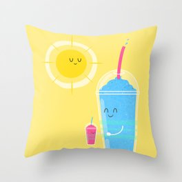Cool Treat to Beat the Heat Throw Pillow