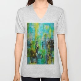 Abstract Blue in the Breeze Unisex V-Neck