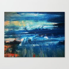 Sky and Sea Reflection Abstract Canvas Print