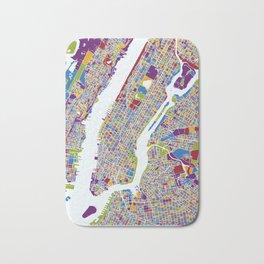 NEW YORK color map Bath Mat