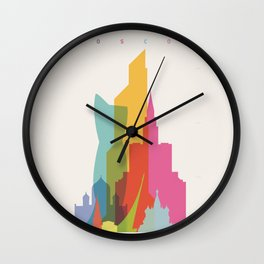 Shapes of Moscow Wall Clock