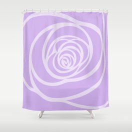 Rose Blossoming in Lavender Shower Curtain