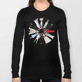 Audrey Hepburn Fashion (Scattered) Long Sleeve T-shirt