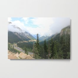 Mountain Pass Metal Print
